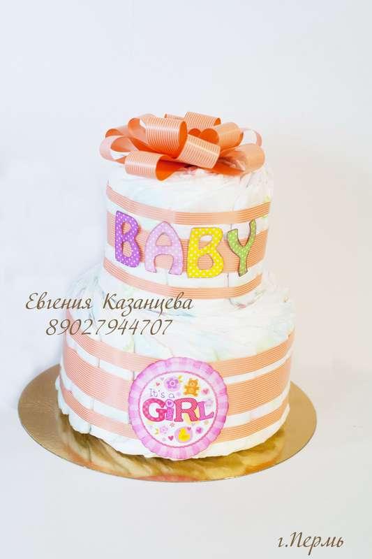 "Торт из памперсов ""Baby girl"""