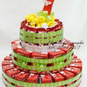 Торт из соков и сладостей