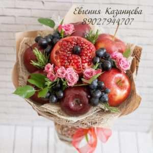 """Букет из фруктов """"Красный бархат"""""""